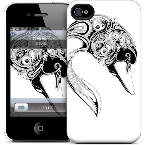 Gelaskins Apple iPhone 4 Hardcase Kılıf Swan