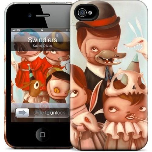 Gelaskins Apple iPhone 4 Hardcase Kılıf Swindlers