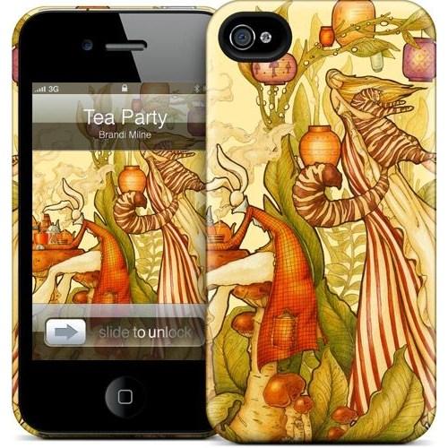 Gelaskins Apple iPhone 4 Hardcase Kılıf Tea Party