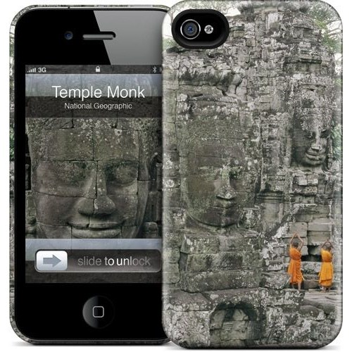 Gelaskins Apple iPhone 4 Hardcase Kılıf Temple Monk