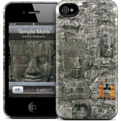 Gelaskins Apple iPhone 4 Hardcase Kılıf Temple Monk