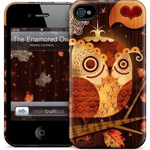 Gelaskins Apple iPhone 4 Hardcase Kılıf The Enamored Owl