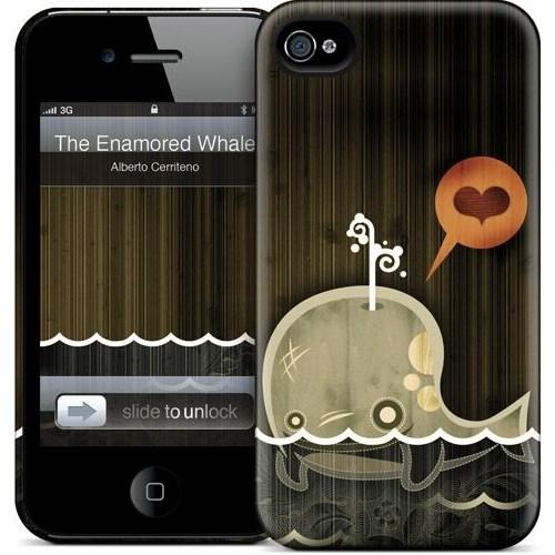 Gelaskins Apple iPhone 4 Hardcase Kılıf The Enamored Whale