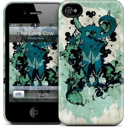 Gelaskins Apple iPhone 4 Hardcase Kılıf The Love Cow