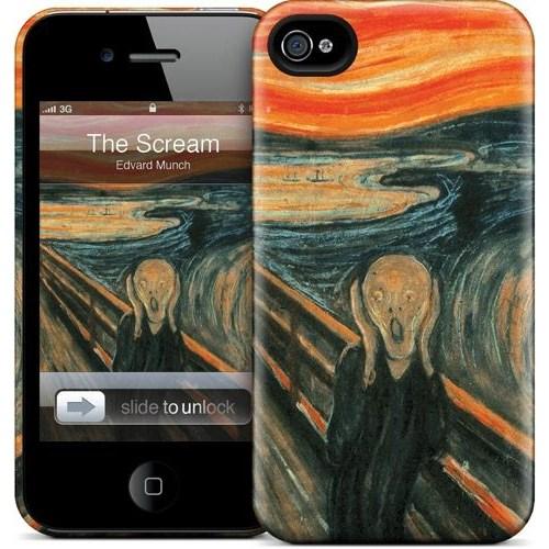 Gelaskins Apple iPhone 4 Hardcase Kılıf The Scream