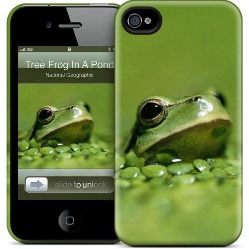 Gelaskins Apple iPhone 4 Hardcase Kılıf Tree Frog Poking A Po