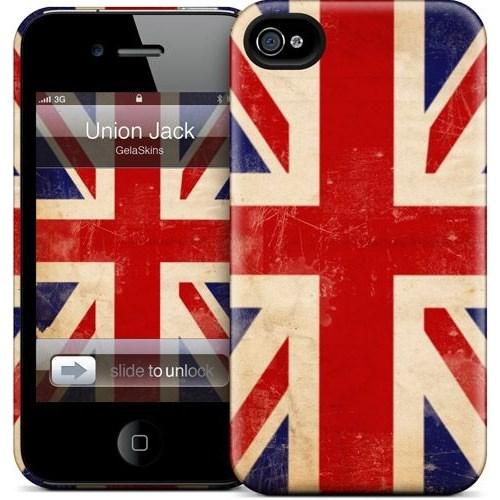 Gelaskins Apple iPhone 4 Hardcase Kılıf Union Jack