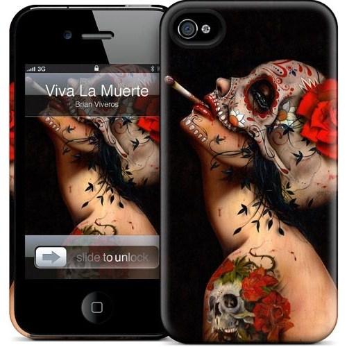 Gelaskins Apple iPhone 4 Hardcase Kılıf Viva La Muerte