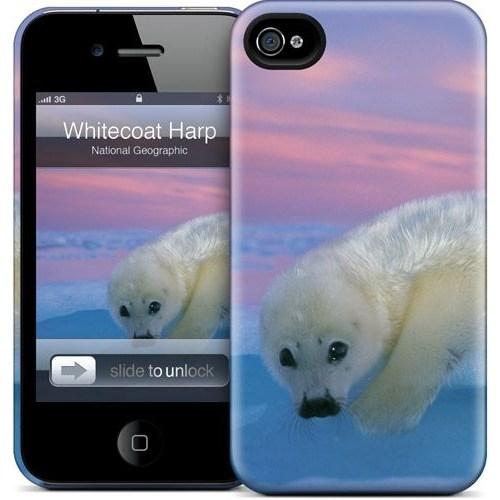 Gelaskins Apple iPhone 4 Hardcase Kılıf Whitecoat Harp Seal