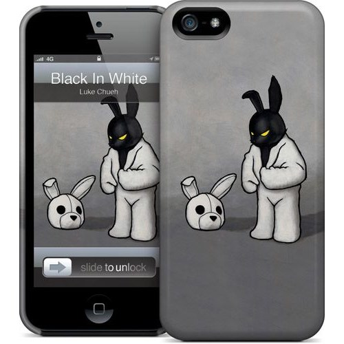 Gelaskins Apple iPhone 5 Hardcase Kılıf Black In White