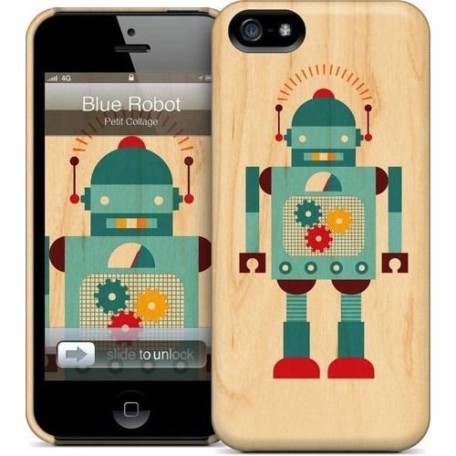 Gelaskins Apple iPhone 5 Hardcase Kılıf Blue Robot