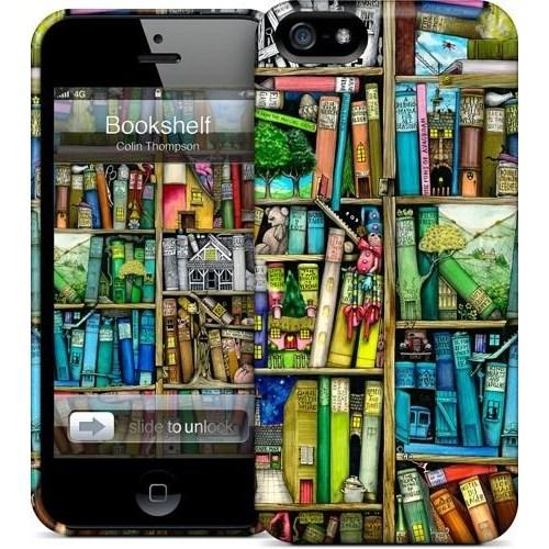 Gelaskins Apple iPhone 5 Hardcase Kılıf Bookshelf