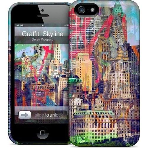 Gelaskins Apple iPhone 5 Hardcase Kılıf Graffiti Skyline