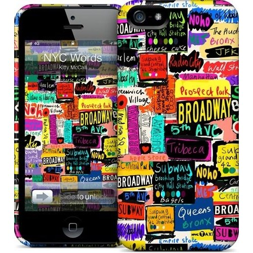 Gelaskins Apple iPhone 5 Hardcase Kılıf Nyc Words