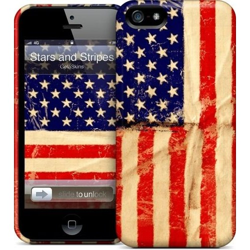 Gelaskins Apple iPhone 5 Hardcase Kılıf Stars And Stripes