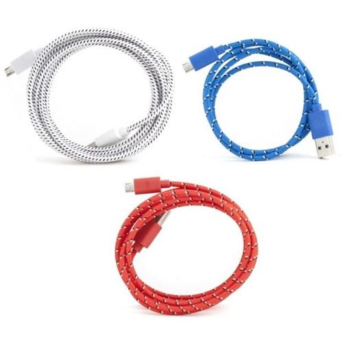 Kikkerland Renkli Ve Uzun Mikro Usb Kablo