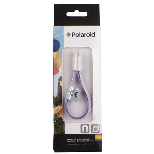 Polaroid Micro Usb Data Ve Şarj Kablosu (Altın Kaplama Ve Mıknatıslı Usb Girişi) Mor - 22164/M
