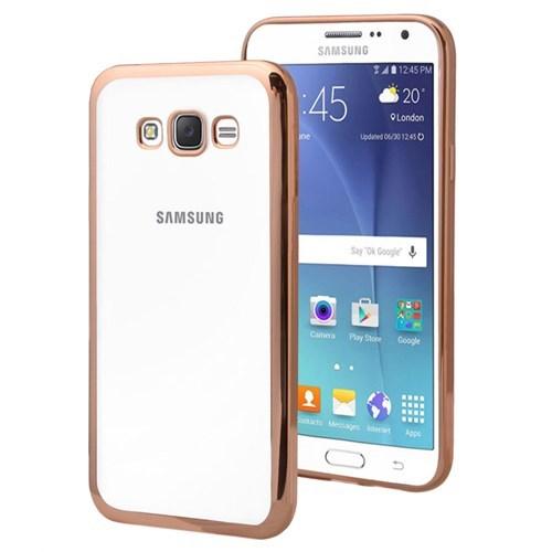KılıfShop Samsung Galaxy Grand Prime Lazer Silikon Kılıf (Gold)