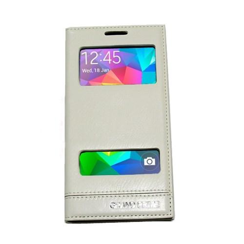 KılıfShop Samsung Galaxy Grand Prime Pencereli Magnum Kılıf (Beyaz)