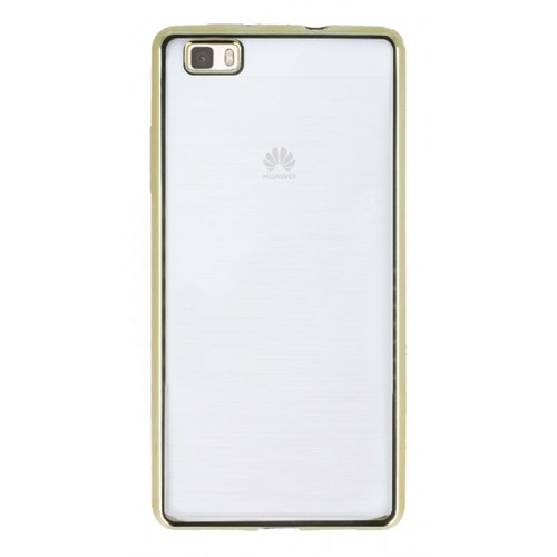 KılıfShop Huawei P8 Lite Lazer Silikon Kılıf (Gold)