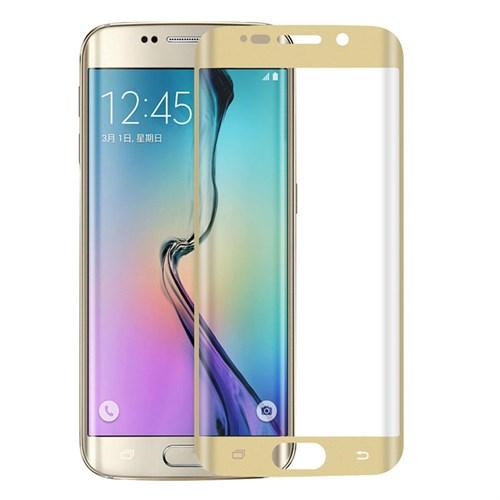 Lopard Samsung Galaxy S7 Edge Gold Kırılmaz Cam 3D Kavisli Temperli Ekran Koruyucu