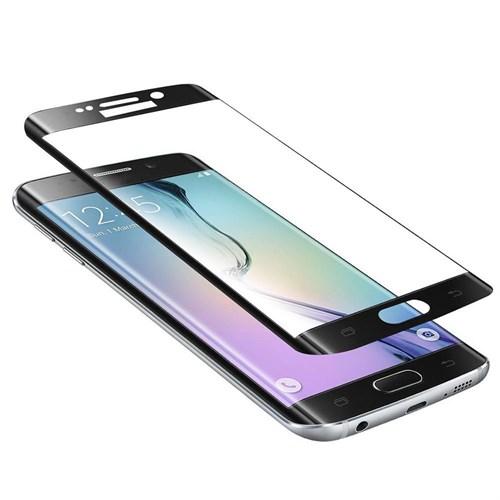Lopard Samsung Galaxy S7 Edge Siyah Kırılmaz Cam 3D Kavisli Temperli Ekran Koruyucu