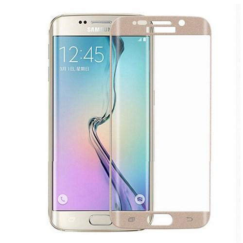 Lopard Samsung Galaxy S6 Edge Gold Kırılmaz Cam 3D Kavisli Temperli Ekran Koruyucu