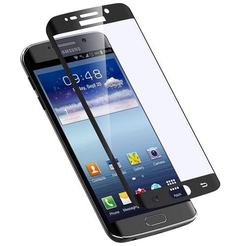 Lopard Samsung Galaxy S6 Edge Siyah Kırılmaz Cam 3D Kavisli Temperli Ekran Koruyucu