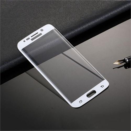 Lopard Samsung Galaxy S6 Edge Plus Beyaz Kırılmaz Cam 3D Kavisli Temperli Ekran Koruyucu