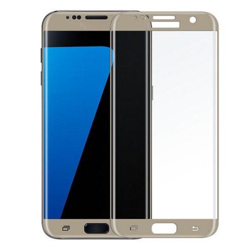 Lopard Samsung Galaxy S6 Edge Plus Gümüş Kırılmaz Cam 3D Kavisli Temperli Ekran Koruyucu