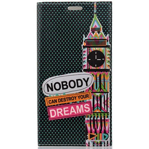 CoverZone Samsung Galaxy Note 5 Kılıf Kapaklı Resimli Dreams