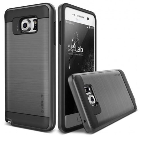 Verus Samsung Galaxy Note 5 Kılıf Verge Steel Silver Case