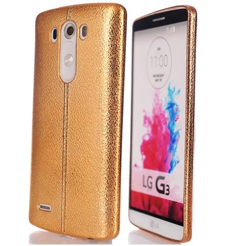 CoverZone Lg G3 Kılıf Silikon Deamond Parlak Gold