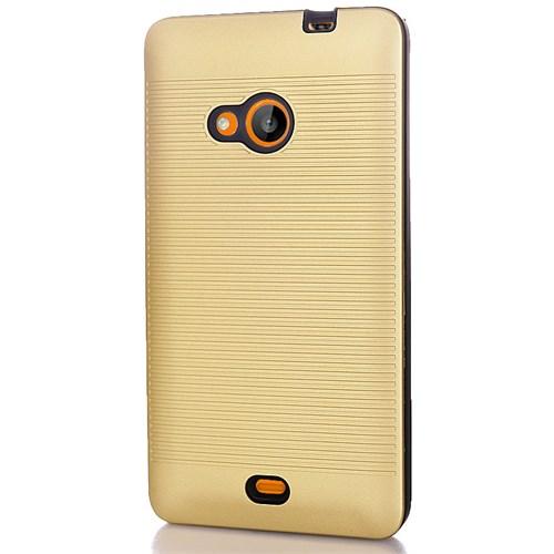 CoverZone Microsoft Lumia 535 Kılıf Silikon Hard Gold