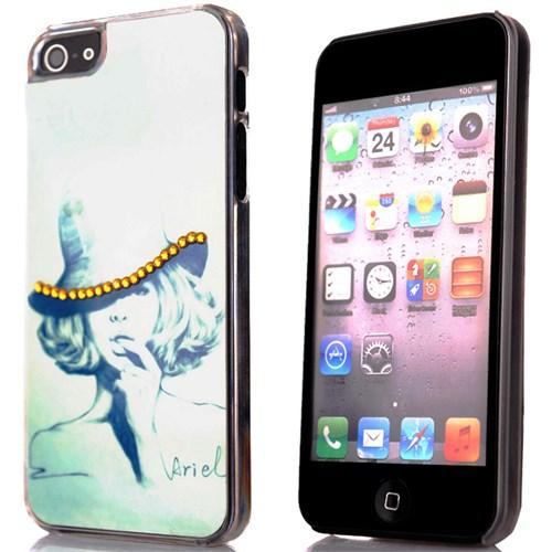 CoverZone İphone 5 - 5S Kılıf Resimli Sert Arka Kapak Ariel
