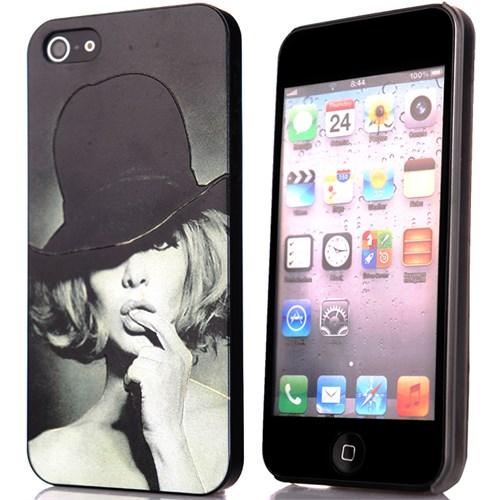 CoverZone İphone 5 - 5S Kılıf Resimli Sert Arka Kapak Hat Woman
