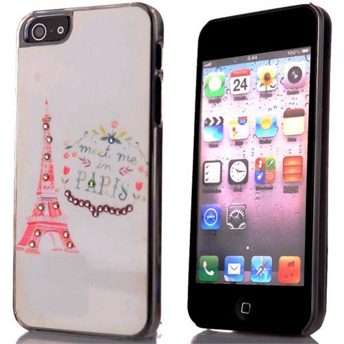 CoverZone İphone 5 - 5S Kılıf Resimli Sert Arka Kapak Paris