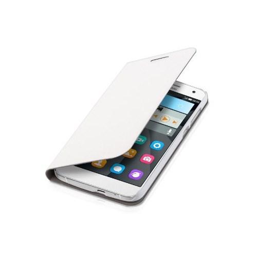 CoverZone Huawei Ascend P1 Kılıf Flip Cover Kapaklı Beyaz