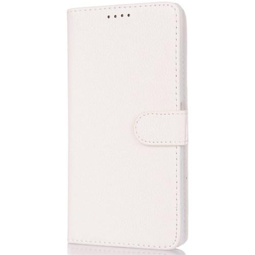 CoverZone Huawei Ascend G700 Kılıf Cüzdan Kapaklı Beyaz
