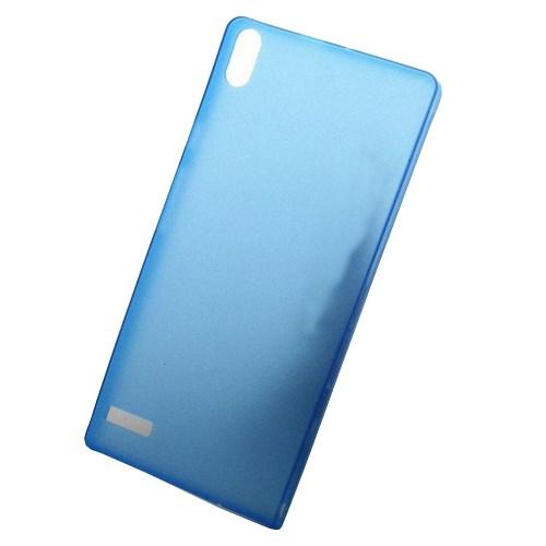 CoverZone Huawei Ascend P6 Kılıf 0.3 Mm İnce Arka Kapak Mavi