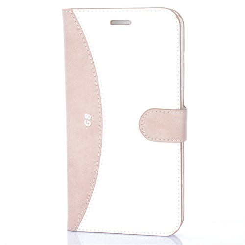 Cep Market Huawei G8 Kılıf Kapaklı Standlı Kartvizitli - Gold