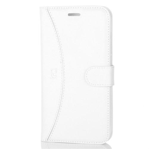 Cep Market Huawei G8 Kılıf Kapaklı Standlı Kartvizitli - Beyaz