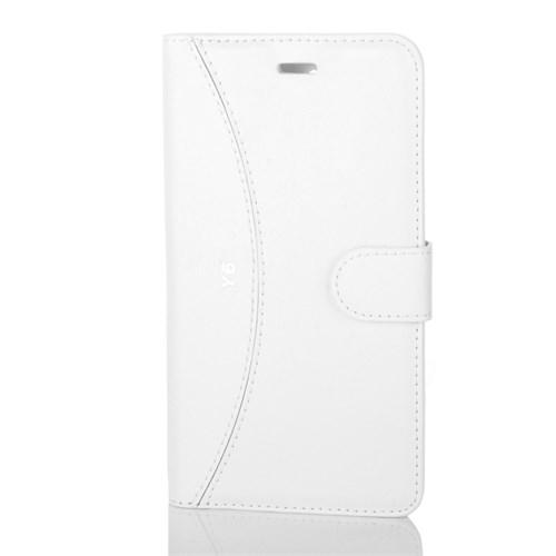Cep Market Huawei Y6 Kılıf Kapaklı Cüzdan Kartvizitli - Beyaz
