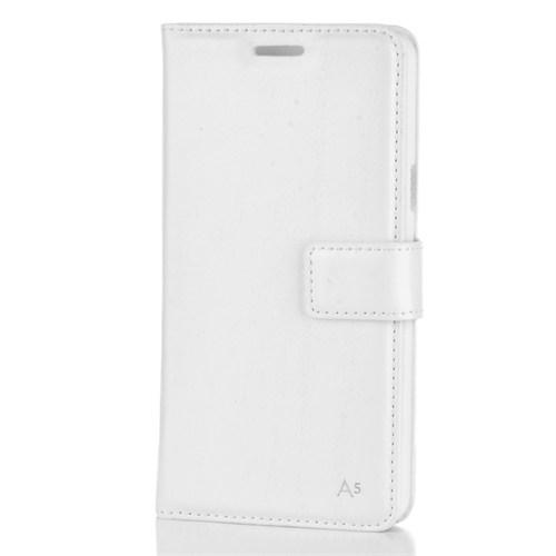 Cep Market Samsung Galaxy A5 2016 Kılıf A510 Kapaklı Kartvizitli Mıknatıslı - Beyaz
