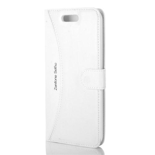 Cep Market Asus Zenfone Selfie Kılıf - Zd551kl Kapaklı Cüzdan Kartvizitli - Beyaz