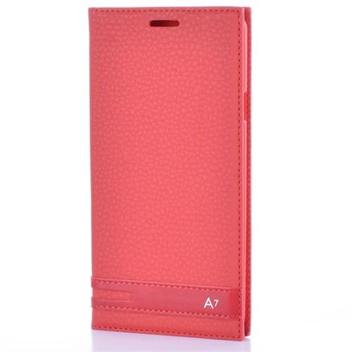 Cep Market Samsung Galaxy A7 2016 Kılıf A710 Kapaklı Elit Kılıf - Kırmızı