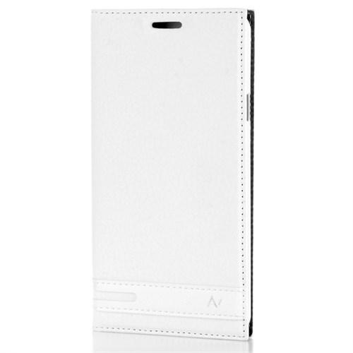 Cep Market Samsung Galaxy A7 2016 Kılıf A710 Kapaklı Elit Kılıf - Beyaz