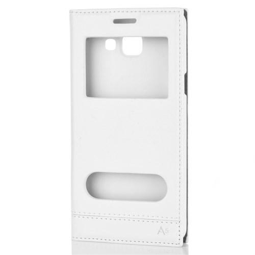 Cep Market Samsung Galaxy A5 2016 Kılıf A510 Kapaklı Pencereli Milano - Beyaz