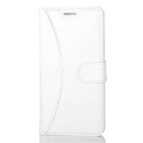Cep Market Samsung Galaxy A5 2016 Kılıf - A510 Kapaklı Cüzdan Kartvizitli - Beyaz