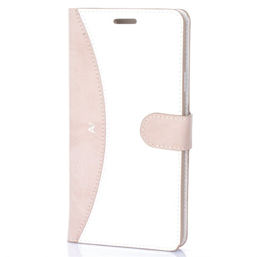 Cep Market Samsung Galaxy A7 2016 Kılıf - A710 Kapaklı Cüzdan Kartvizitli - Gold